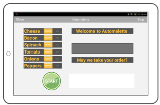 Arduino Tablet Ordering Application